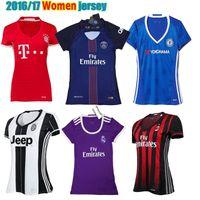 ac running - 2016 Real madrid Women jerseys AC Milan Lady Chelsea PSG women camiseta de futbol Bayern Munich woman girl football shirt
