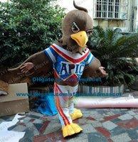 bald costumes - Irritated Brown Bald Eagle Vulture Eagle Hawk Tercel Tiercel Falcon Mascot Costume Cartoon Character Mascotte Adult ZZ547 FS