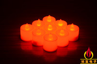 Wholesale 3 cm Battery operated Flicker Flameless LED Tealight Tea Candles Light Wedding Birthday Party Christmas Decoration ZD068C