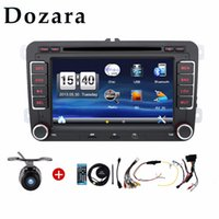 Wholesale 2 din radio VW car dvd player vw passat b6 polo golf vw golf touran t5 caddy sharan with GPS navigator steering wheel