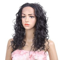 Wholesale Lace front wigs synthetic hair wigs Curly style inch Black Ombre color women Fashion wigs hot sale