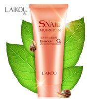 Wholesale 2pcs Big discount Snail Facial Cleanser Exfoliating Gel Moisturizing Whitening Deep Clean The Skin Care Snail Cleansing Gel