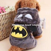batman teddy bear - DHL Dog Batman printed clothes coat autumn winter clothing Teddy Bears four legged pet supplies puppy dog clothes Dog Apparel