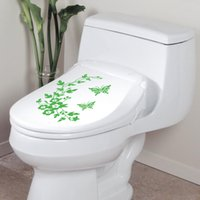 Wholesale Butterfly Flower bathroom wall stickers home home decoration wall decals for toilet decal sticker TT186