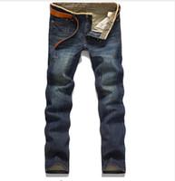 Wholesale Men s Famous Brand Trousers Jeans Designer Jeans Men High Quality Denim Pants without belt