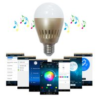 cheap light bulbs - E27 W Bluetooth LED Bulbs with Speakers V Changeable RGB White Lights Globe LED Lighting Bulbs Lamps Cheap