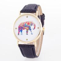 auto national - Sale Elephant Pattern National Style Quartz Watch Women Dress Leather Watch Clock Female Bracelet Watches