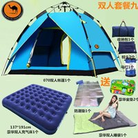 Wholesale Authentic camel tent full automatic outdoor tent camping tent double rain suit