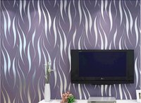 Wholesale 3 d flocking water of grass stereo wallpaper Contracted and contemporary non woven wallpaper bedroom The sitting room TV setting wall