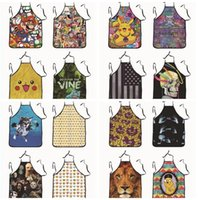Wholesale LJJD3302 styles Super Mario Apron creative whimsy novelty couples party gifts Creative Cartoon pinafore New Apron cm