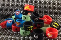 ban ring - 2016 newest decorative ring silicon band vape ring with super man Batman Captain America Decorative Non Slip Silicone Protection Rubber Ban