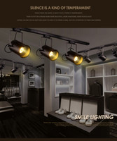 Wholesale Vintage clothing store room lamp background bar with the cob creative led ceiling spotlight guide track lamp