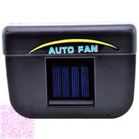 Wholesale Auto Cool Solar Powered Car SUV Auto Air Vent Cool Fan Cooler Ventilation Radiator System LJJH1375