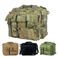 army green messenger bags - multifunction Molle outdoor sports military tactical Handbags camera inch Laptop Messenger bag for men