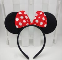 baby minnie birthday - Children mickey and Minnie mouse ears headband girl boy Hair Band design kids baby birthday party supplies decorations Hair Accessories