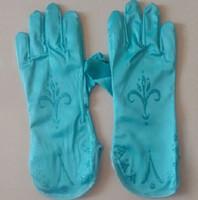 Wholesale 2015 Fashion and new gilrs ladies Elsa Anna Princess Cosplay gloves printing gloves log sleeves cosplay gloves