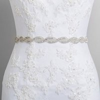 Wholesale Bridal belts Ellie s Bridal Boutique hot spot trade in Europe and America diamond wedding accessories headdress dual ribbon