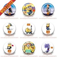 badge hanger - Hot selling Minions Despicable me Buttons Pins Badges Round Badges Party favor Brooches Badges Kid s Best Gift