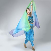 Wholesale SXGradient Veil Shawl Face Scarf Women Dance Belly Bollywood Costume Silk like New