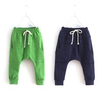 Wholesale Girl Sports Trousers Toddler Children Jersey Harem Pants Baby Boy Jersey Bottoms Y