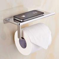 Wholesale Creative Toliet Paper holder Mutifunctional Bathroom Hardware Organizer Stainless steel toilet roll paper mobile phone holder