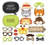 Wholesale photobooth Animal Mask Rabbit Lion Monkey party Photo Booth birthday party