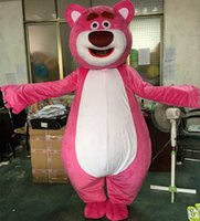 adult bear suits - Lovely pink LOTSO Bear mascot costume bear cartoon costume Fancy Dress Adult Size EPE Suit costume high Quality