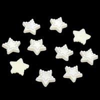 Wholesale Imitation Flatback Half Pearl Beads Star mm Resin Beads DIY Jewelry Findings