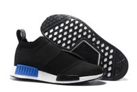 band city - new Mens And Womens NMD City Sock Running shoes for runner in Black White in top quality