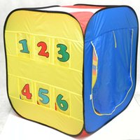 Wholesale Kids Safe Polka Dot Hexagon Playpen Indoor Ball Pool Play Tent Safety Mesh Baby Playpen Baby Play Yard