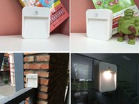 Wholesale The new European style V retro night light square sensor light sensin Square night light corridor bedroo toilet body sensor wall lamp