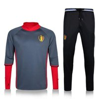 american football uniforms - 2016 Belgium red Football Tracksuits New Arrived Polyster Qty Active soccer Tracksuits Men s Long Sleeve Tracksuits Training Uniforms