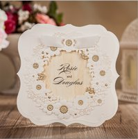 beautiful birthday card - 2016 Beautiful Gold Floral Printed Custom Wedding Invitations Cards Personal Customized Wedding Suppliers Cards Formal For Wedding Invitate