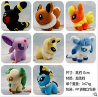 Wholesale Eevee Pokeman Pocket Monster Styles inch Umbreon Espeon Jolteon Vaporeon Flareon Glaceon Leafeon Plush doll stuffed Toys dolls Monsters