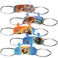 Wholesale Prettybaby zootopia cartoon animal printing eyeshade designs D printing vision care Judy Nick sleeping masks Pt0410 la