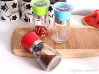 Wholesale High Quality Best selling Glass Pepper set Salt Herb Spice Hand Grinder Mill manual pepper mill