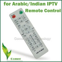 Gros-1piece Potable IPTV Remote Control avec High Speed ​​télécommande pour l'arabe IPTV Box Android 4.4 TV Box