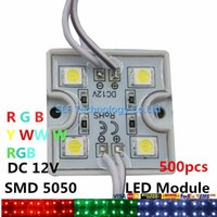 Wholesale 500pcs LED Led C Backlight Led Lights Modules RGB Pixel Tetragonal Iron Led Modules For Channel Letter Advertisement Light