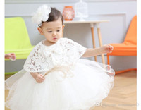 Wholesale EMS DHL Free Hot Sale Baby Birthday Party Kids Dress Baby Girl Christening Gowns Baby Girl Baptism Dresses Factory Direct M