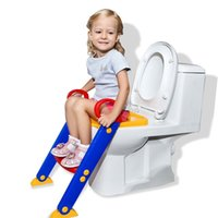 Wholesale 2016 Baby Potty Seat Ladder Children Toilet Seat Cover Kids Toilet Folding infant potty chair Training Portable