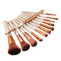 Wholesale brand brushes with logo Makeup Brushes Kit Set With tin box Cosmetic Brushes Tool Kit Make up Brush Set DHL