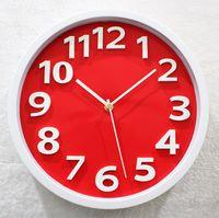 Wholesale inch D stereoscopic three dimensional digital wall clock fashion watches quartz minimalist acrylic creative mute figures