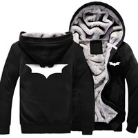 batman hood - Fall new arrival autumn and winter batman jacket coat with a hood male thickening sweatshirt plus cotton baseball uniform