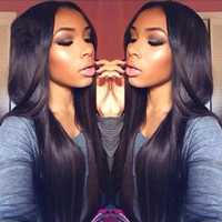 Wholesale 100 Brazilian Human Hair Wigs Glueless Full Lace Wigs Lace Front Wig Front Lace Wigs for Women Wigs Natural Black Straight Free Part