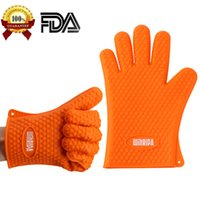 Wholesale WINRIDA Silicone Gloves Heat Resistant Silicone Oven Mitts BBQ Gloves for Cooking Baking Barbecue Potholder