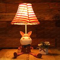 Wholesale Red Happy Horse Table Lamp Lovely Girl s Room Desk Lamps Baby Room Table Lights Kid s Room Desk Light LLFA88