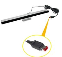 Wholesale Wired Remote Motion Sensor Bar IR Infrared Ray Inductor for Nintendo Wii with retail package