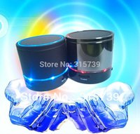 Wholesale 20pcs S08 Portable Bluetooth Mini Speaker with Bass Reads Music From TF Card For apple ipad iphone s Samsung Galaxy s6 s7