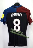 Wholesale blakc away jersey player version top dempsey print
