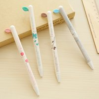 aihao pen - Aihao mm Plastic Black Blue Writing Cute Kawaii Push Leaves Gel Pens Korean Office And School Supplies Stationery